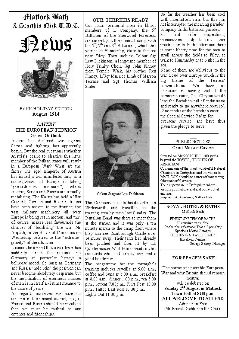 Parish News 1914 - click to view this newsletter