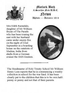 Vintage Newsletter Autumn 1914