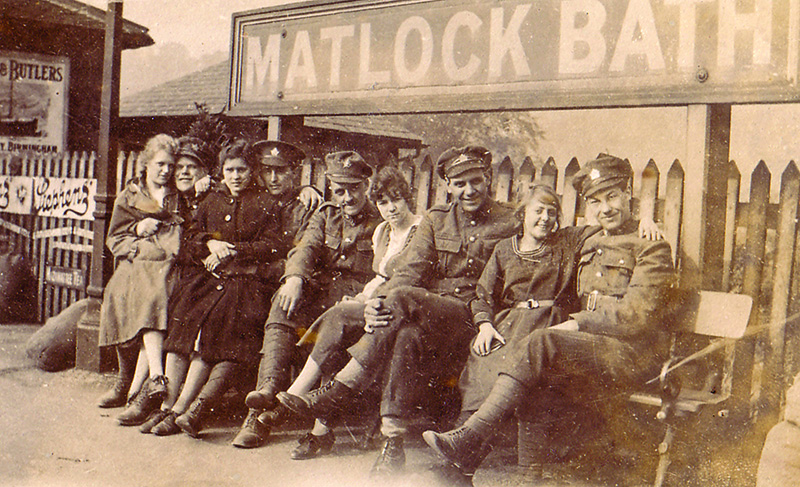 Canadian Soldiers at Matlock Bath Station